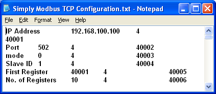 Configuration file in Notepad